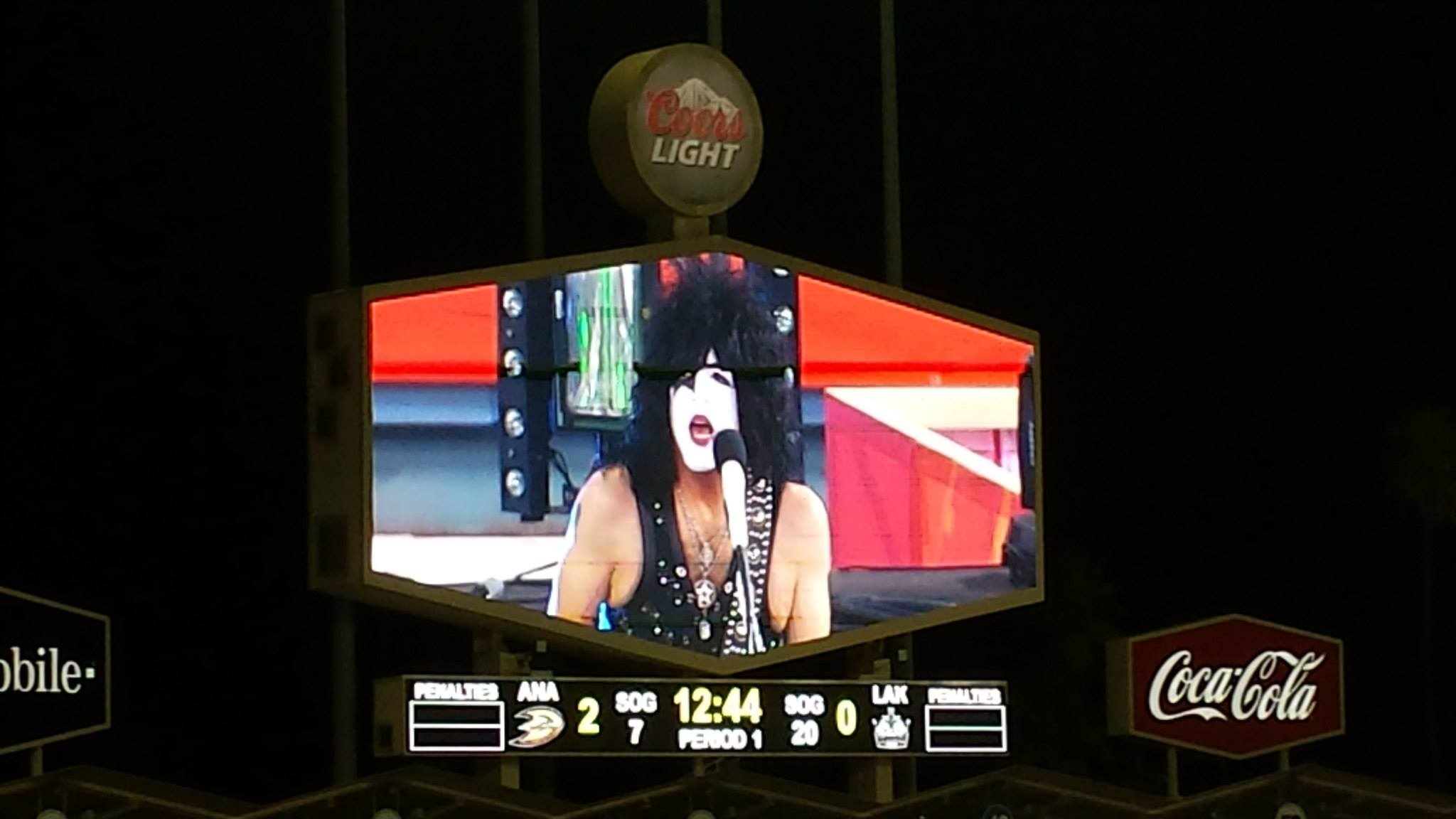KISS Performs at the NHL Stadium Series at Dodger Stadium: Paul Stanley