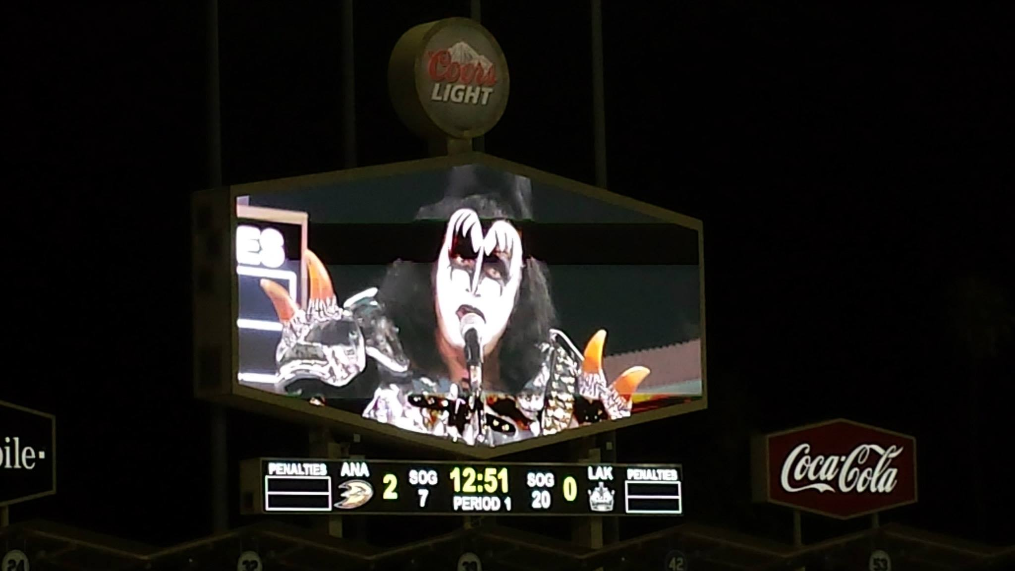 KISS Performs at the NHL Stadium Series at Dodger Stadium: Gene Simmons
