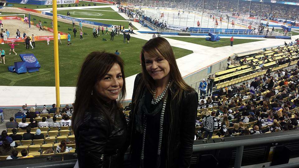 Hanging out at Dodger Stadium for the NHL Stadium Series LA Kings game