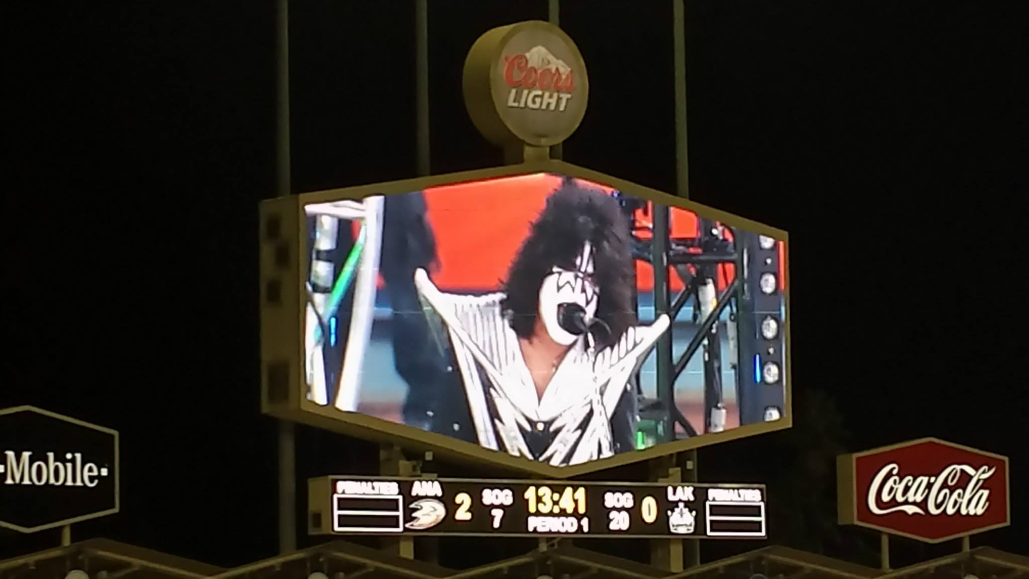 KISS Performs at the NHL Stadium Series at Dodger Stadium
