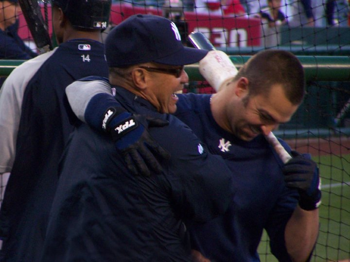 Reggie Jackson Mr. October and Nick Swisher at batting practice